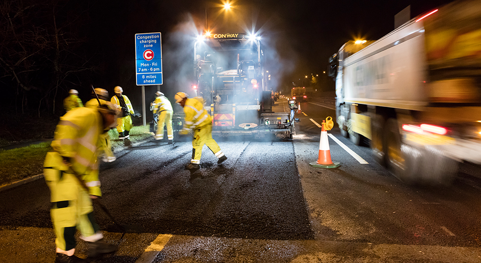 Resurfacing A1 Mill Hill
