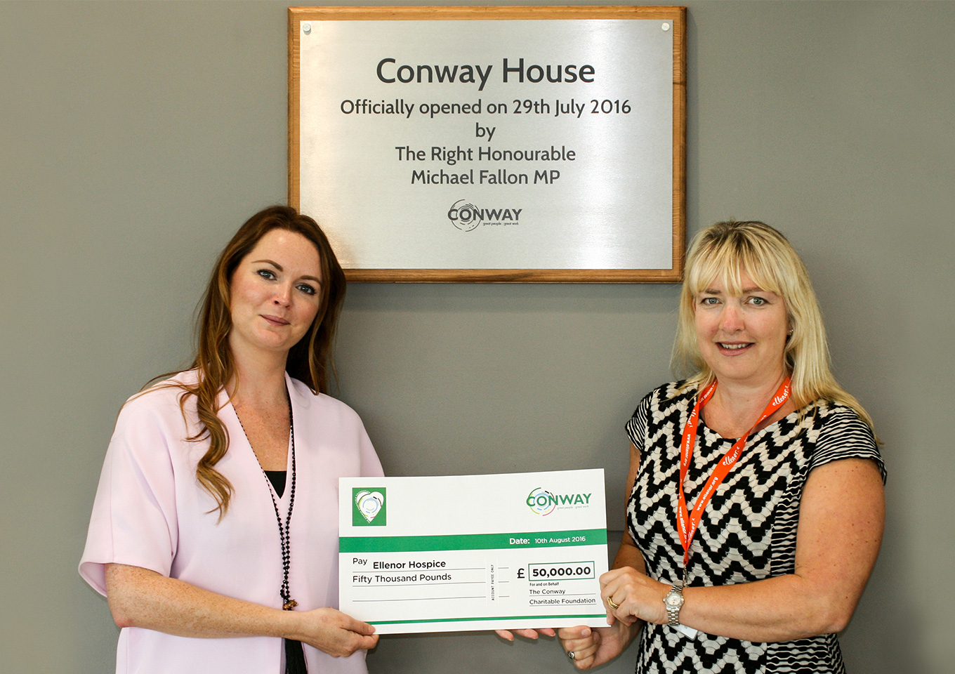 Hospice charity gets £50,000 boost from FM Conway thumbnail